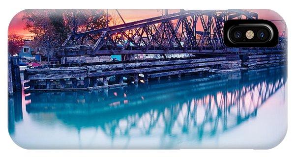 Erie Canal Swing Bridge IPhone Case