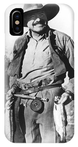 Ernest Hemingway Fishing IPhone Case