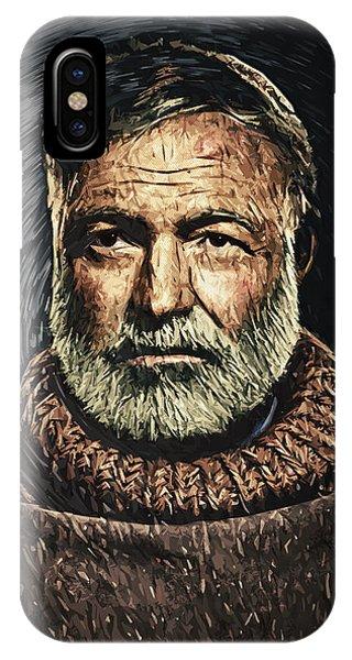 Nobel iPhone Case - Ernest Hemingway by Zapista Zapista