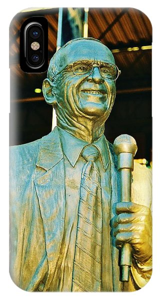 Ernie Harwell Statue At The Copa IPhone Case