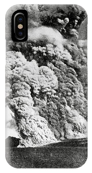 Pyroclastic Flow iPhone Case - Eruption Of Mount Pelee by Royal Astronomical Society/science Photo Library