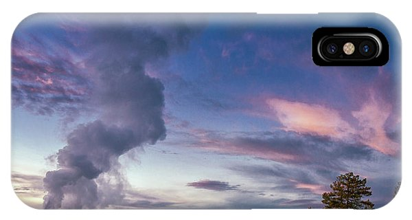 iPhone Case - Eruption Of Old Faithful Geyser by Tom Norring