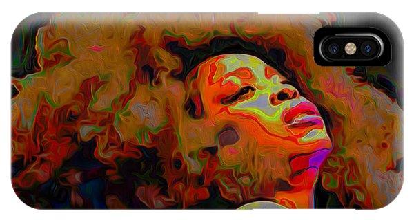 Figurative iPhone Case - Erykah Badu by Fli Art