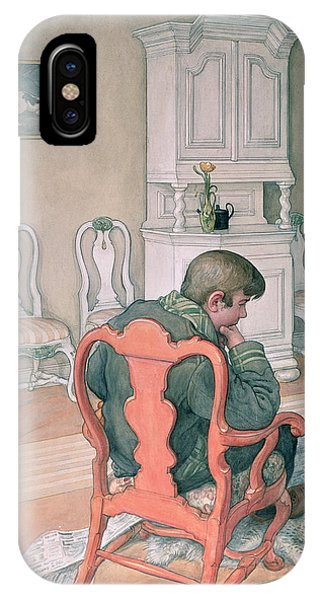 Deep Thought iPhone Case - Esbjorn Convalescing by Carl Larsson