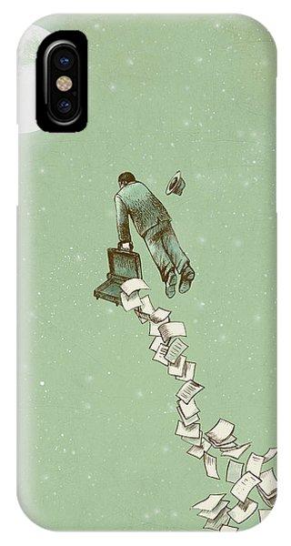 Flight iPhone Case - Escape by Eric Fan