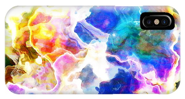 IPhone Case featuring the mixed media Essence - Abstract Art by Jaison Cianelli