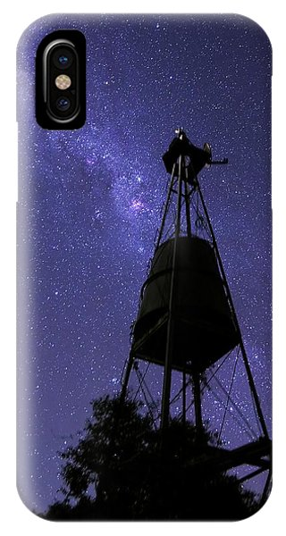 Eta Carina Nebula And Water Tower Phone Case by Luis Argerich