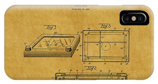 Etch-a-sketch iPhone Case - Etch A Sketch Patent 1 by Andrew Fare