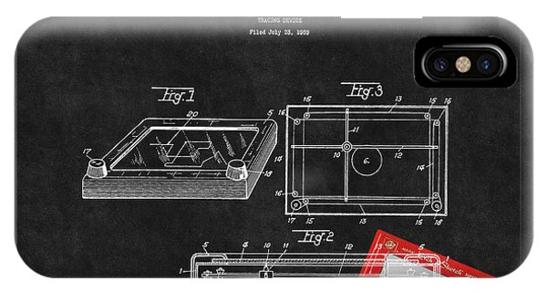 Etch-a-sketch iPhone Case - Etch A Sketch Patent 3 by Andrew Fare