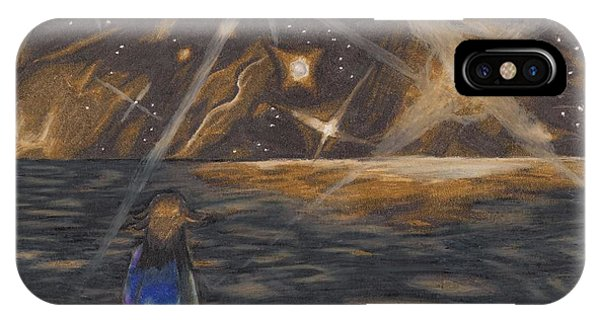 Etestska Lying On Pluto IPhone Case