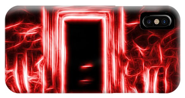 Ethereal Doorways Red IPhone Case