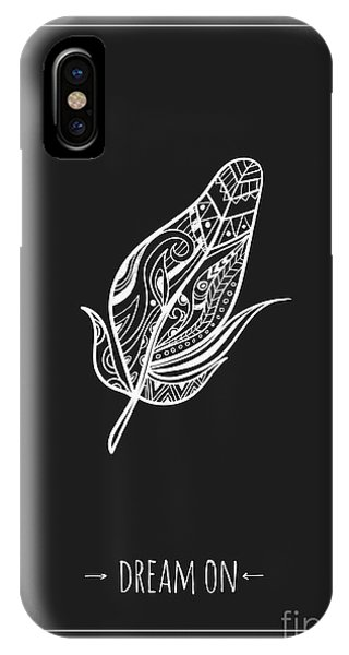Tribal iPhone Case - Ethnic Design Poster With Feather by Wondervendy