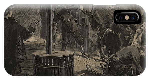 Dungeon iPhone Case - Etievant, The Anarchist Shoots by F.L. & Tofani, Oswaldo Meaulle