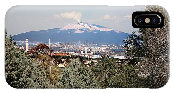 Etna iPhone Case - Etna And Industry by Sheila Terry/science Photo Library