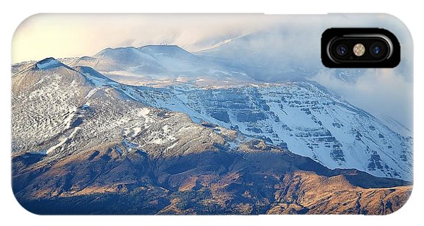 Etna With Snow IPhone Case
