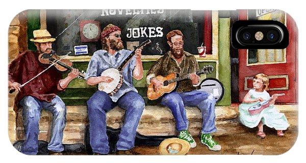 Novelty iPhone Case - Eureka Springs Novelty Shop String Quartet by Sam Sidders