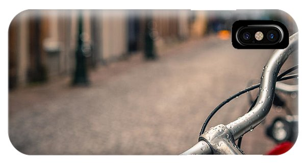 Bike iPhone Case - European Bicycle Scene by Mr Doomits