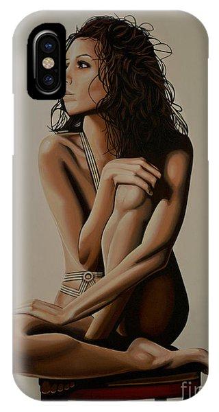 Eva Longoria Painting IPhone Case