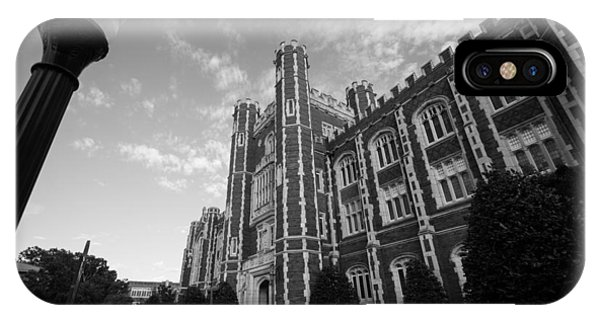 Evans Hall In Black And White IPhone Case