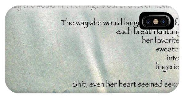 Even Her Heart Seemed Sexy Phone Case by Steven Digman