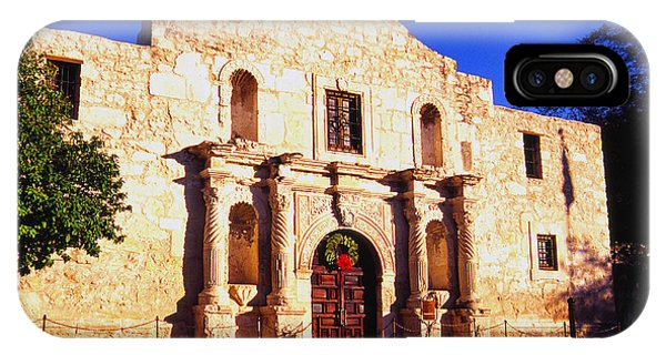The Alamo iPhone Case - Evening At The Alamo  by Thomas R Fletcher