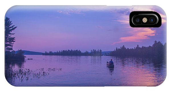Evening Canoeing  IPhone Case