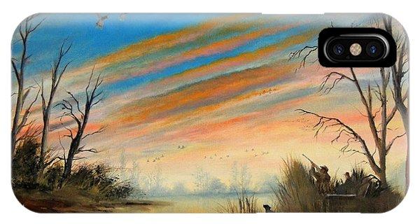 Mallard iPhone Case - Evening Duck Hunt by Bill Holkham