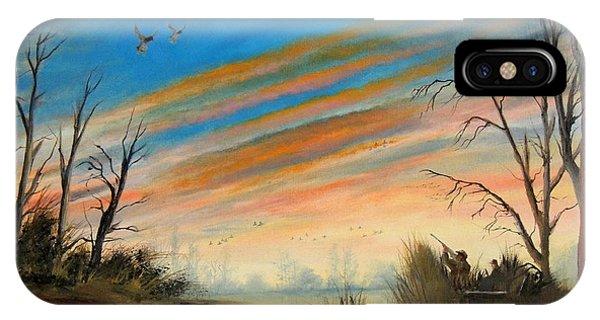 Evening Duck Hunt IPhone Case