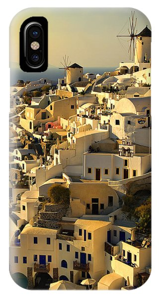 Greece iPhone X Case - evening in Oia by Meirion Matthias
