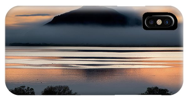 Fog iPhone Case - Evening Lake by Shenshen Dou