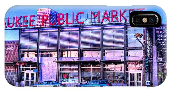 Evening Milwaukee Public Market IPhone Case