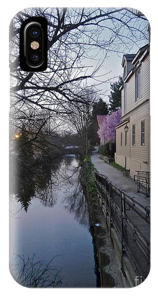 Evening On The Canal Path IPhone Case