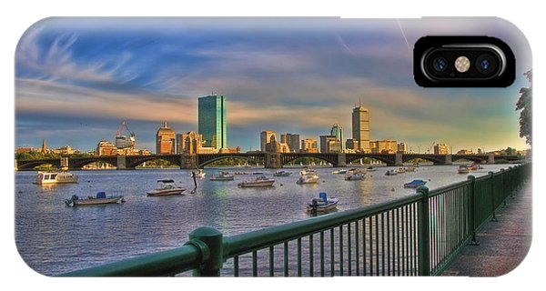 Evening On The Charles - Boston Skyline IPhone Case