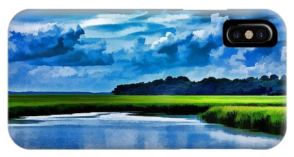 Evening On The Marsh IPhone Case