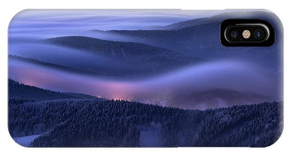 Fog iPhone Case - Evening Over Inversions by Daniel ?e?icha