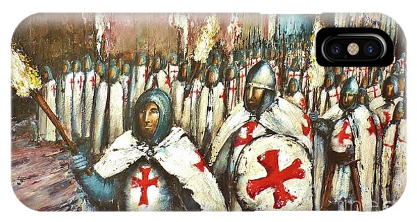 Templar Procession  IPhone Case
