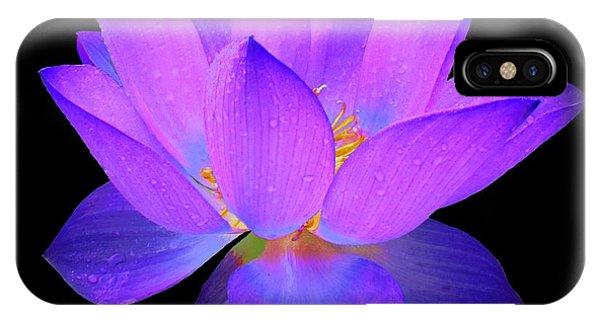 Evening Purple Lotus  IPhone Case
