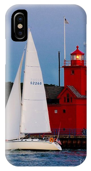 Evening Sail At Holland Light IPhone Case
