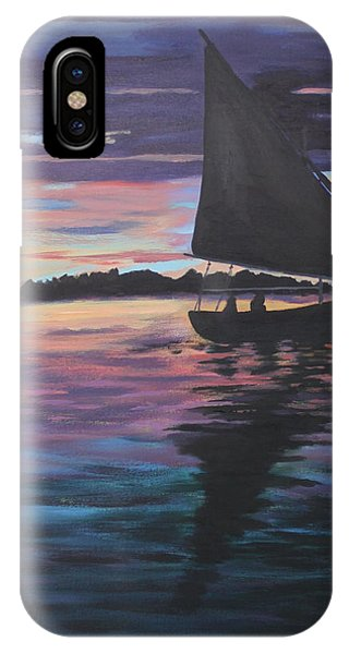Evening Sail Phone Case by Jane Croteau