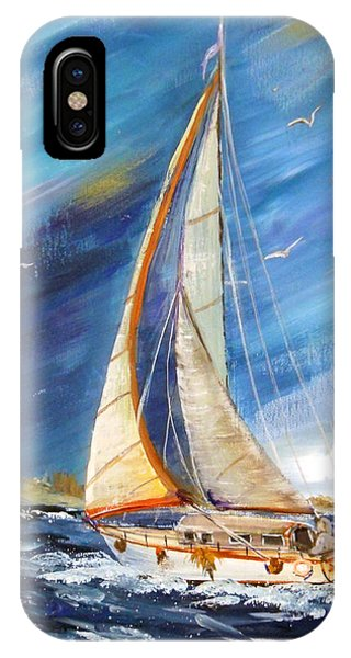 Evening Sailing IPhone Case