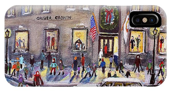 Evening Shopping At Grover Cronin IPhone Case