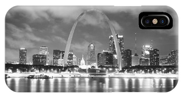 Mississippi River iPhone Case - Evening St Louis Mo by Panoramic Images