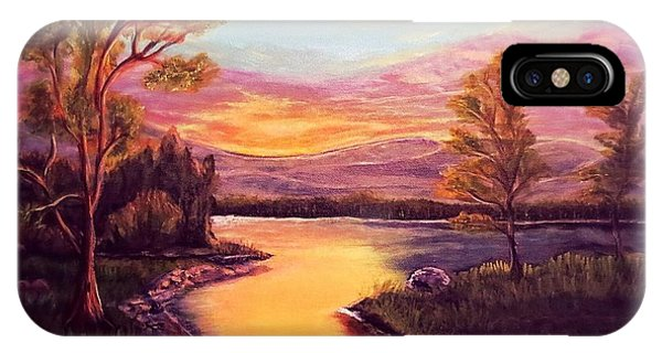 Evening Sun Sets Over A Lake Somewhere Off The Gulf Of Mexico IPhone Case