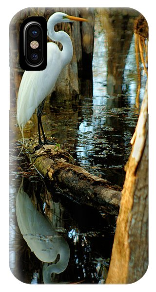 Everglades Egret IPhone Case
