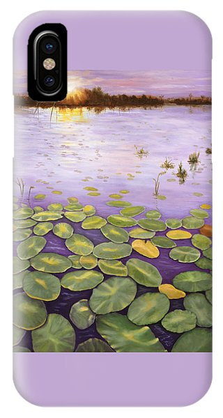 IPhone Case featuring the painting Everglades Evening by Karen Zuk Rosenblatt
