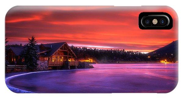 Evergreen Lake Sunrise IPhone Case