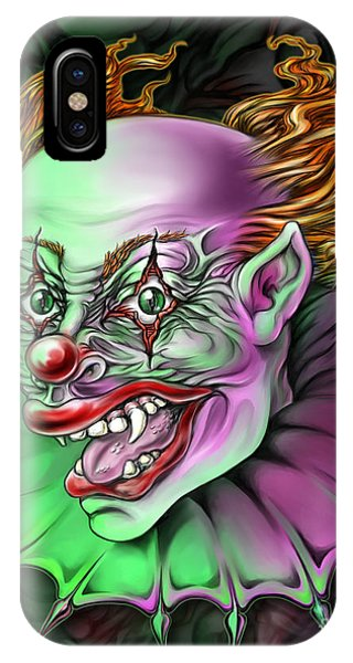 Evil Clown By Spano IPhone Case