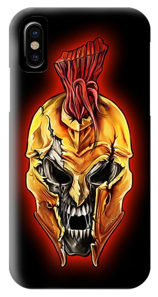 Evil Spartan Skull IPhone Case