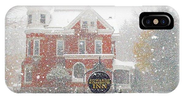 Edwards Waterhouse Inn In Winter IPhone Case