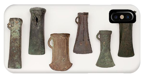Woodworking iPhone Case - Examples Of Late Bronze Age Socketed Axes by Paul D Stewart